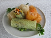 Shrimp-scallop-vegetable rolls